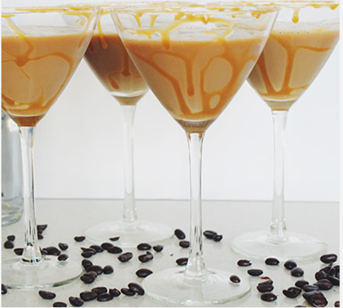 Salted Caramel Coffee Martini pic